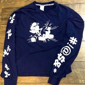 Donald Duck - Disney Long Sleeve Shirt - Sz Large